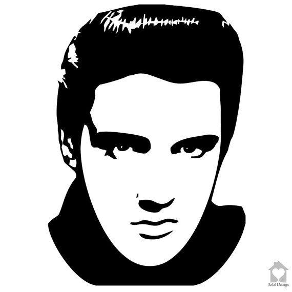 Elvis Presley- Vinyl Wall Decal, Vinyl Wall Decor, Vinyl Decal, wall Decal, wall stickers, väggord, väggtext, väggdekor, Sisustustarra 526_