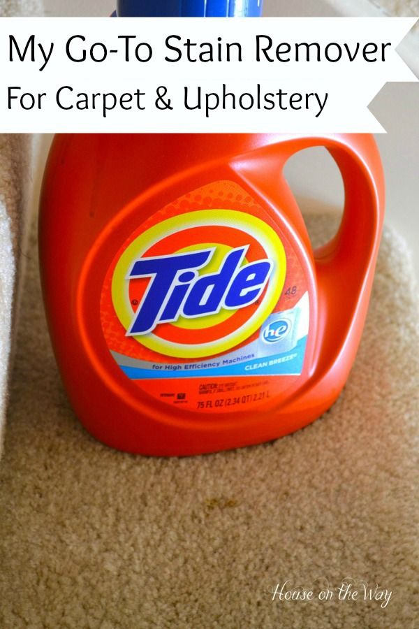 The perfect stain remover for carpet & upholstery |  by 'House on the Way Blog'