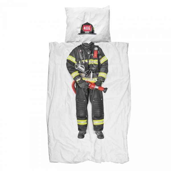 Snurk Fireman Single Doona cover set |Krinkle Gifts