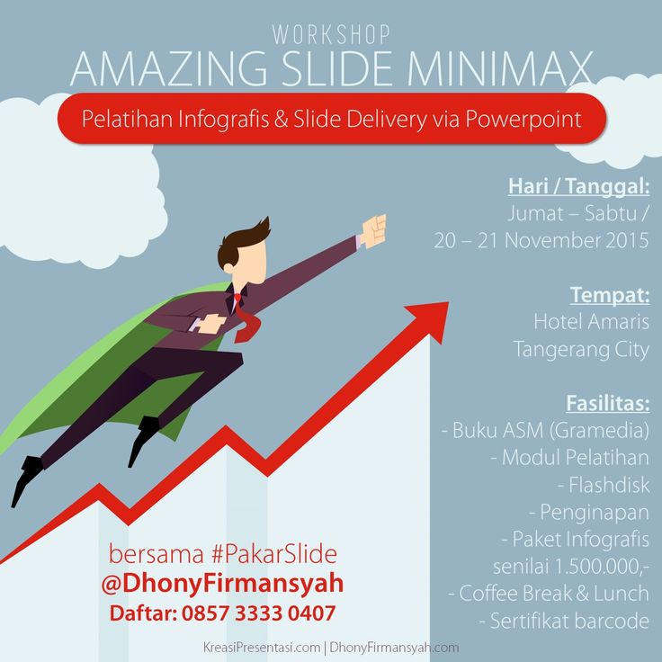 Workshop infografis & Slide Delivery via Powerpoint, Amazing Slide MiniMAX, Tangerang 20-21 November 2015.