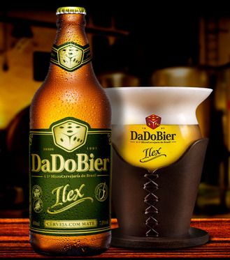 Cervejaria Dado Bier - Ilex, Brazil. The stout uses erva matte, a slightly bitter plant, similar to tea leaves, and popular in drinks like mate and chimarrao.