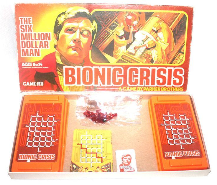 Vintage 1976 Bionic Crisis By Parker Brothers, Six Million Dollar Man, Antique Alchemy