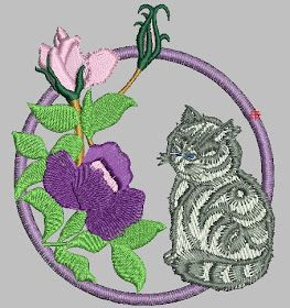embroidery free download: download free baby cat machine embroidery