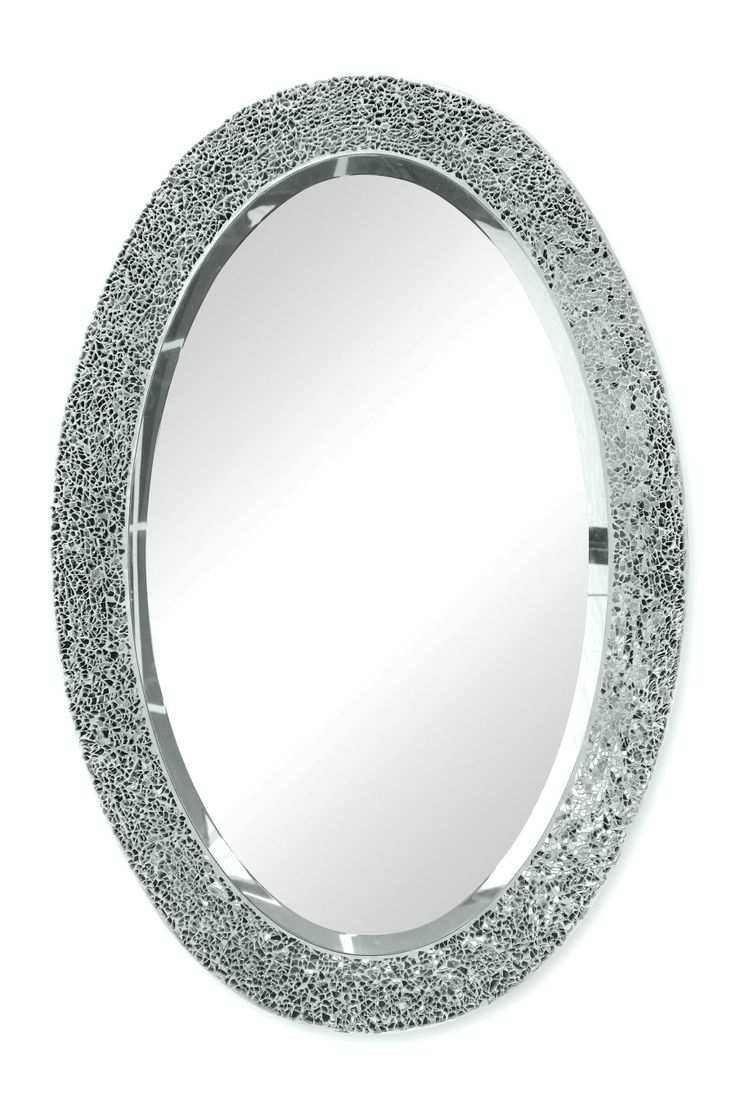 Buy Silver Coloured Sparkle Oval Mirror From The Next UK Online Shop