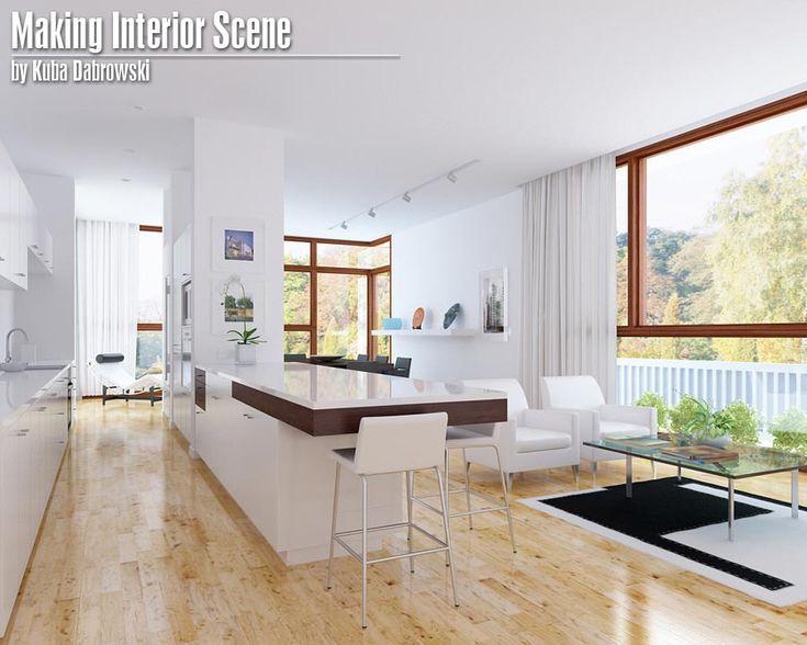 making interior scene by kuba dabrowski 3d pinterest. Black Bedroom Furniture Sets. Home Design Ideas