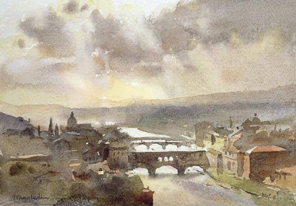 what a master of watercolour is Trevor Chamberlain