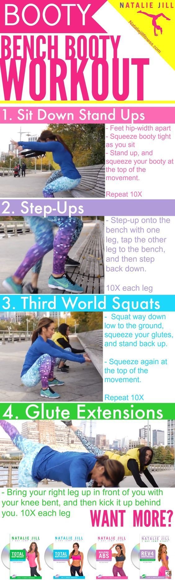 You can work that booty anywhere! To show you we took this workout to the streets of New York City! Click the image to watch the video.