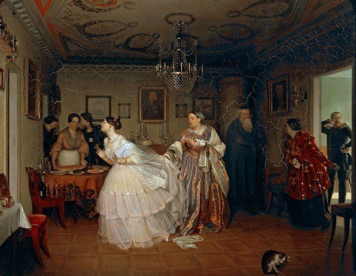 Павел Федотов. Сватовство майора, 1848