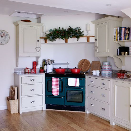The classic British kitchen takes on a festive Christmas air