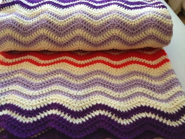Tales From Trish: Neat Ripple Blanket - FINALLY Finished!