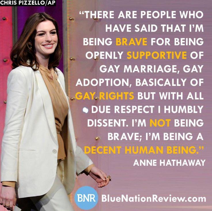 Anne Hathaway Relationship: Anne Hathaway, Decent Human Being