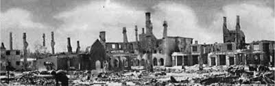 Elverum after the bombing in 1940