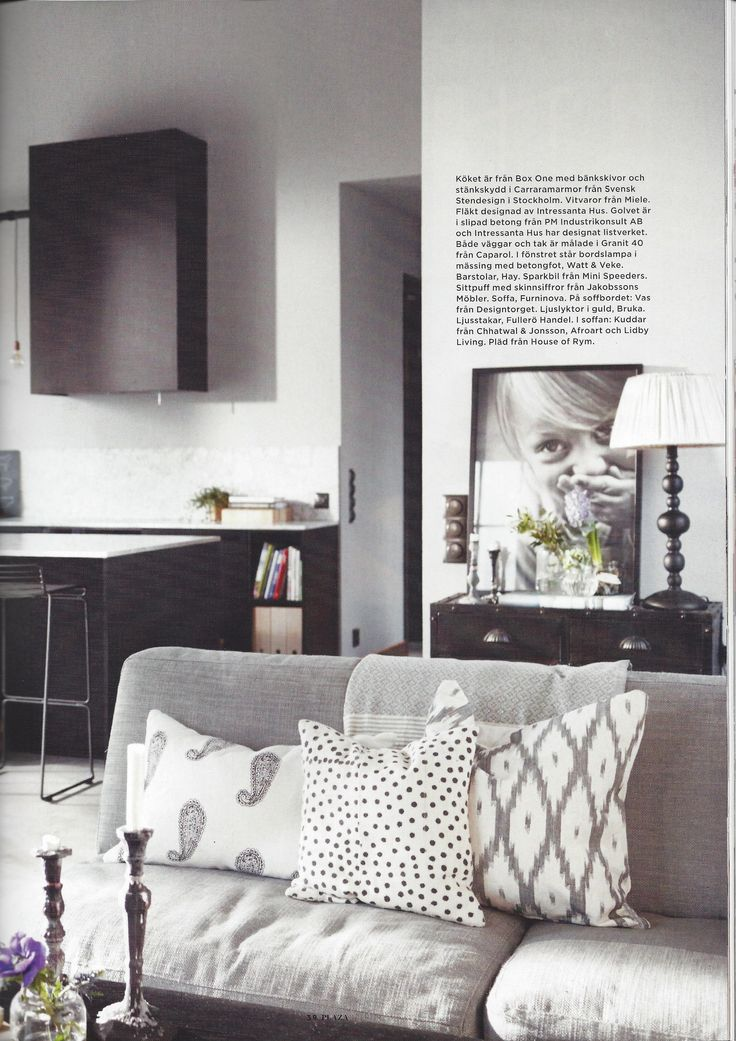 A Kitchen in Plaza Interiör with cushions from Chhatwal & Jonsson