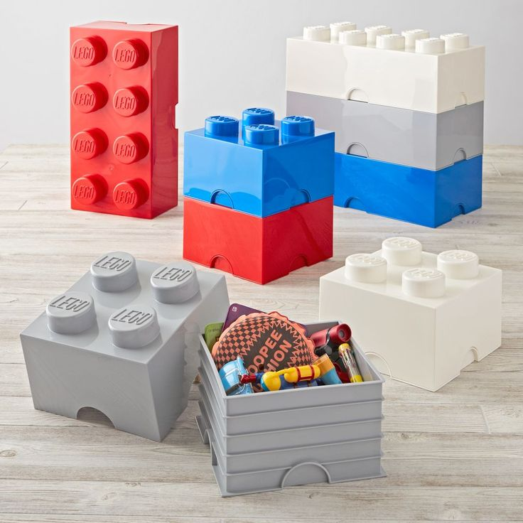 Red Lego Storage Brick 8 | The Land of Nod