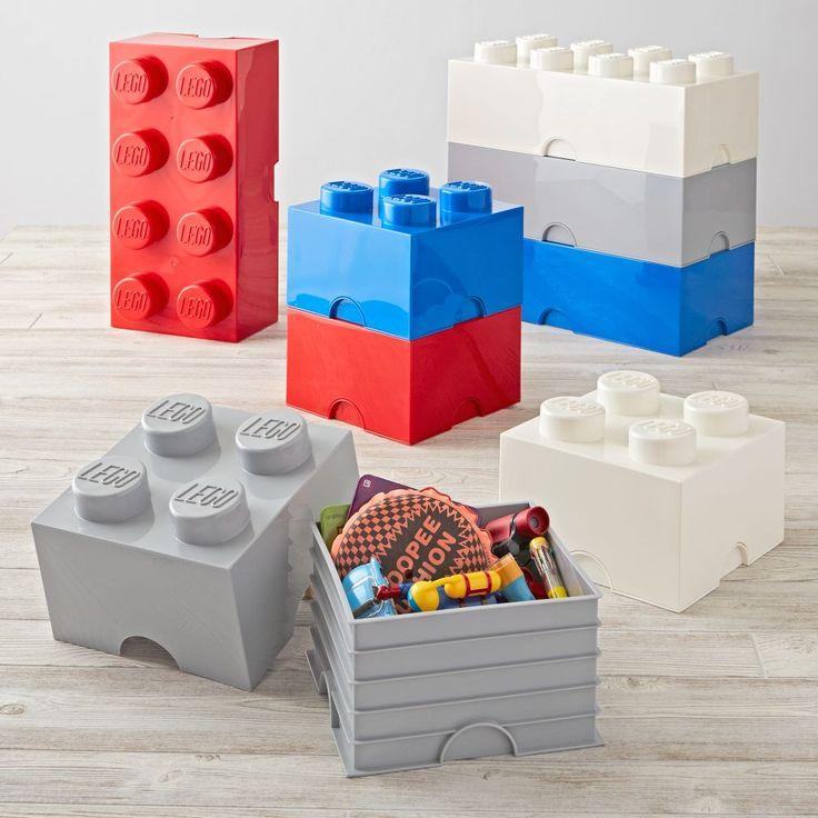 Red Lego Storage Brick 8 | The Land of Nod