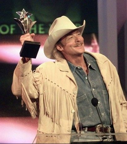 1997: Alan Jackson accepts his award for entertainer of the year at the TNN-Music City News Country Awards show in Nashville on Monday, June 16, 1997.