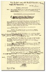 AUG. 14, 1941:  The Atlantic Charter was issued.  image:  Winston Churchill's edited copy of the final draft of the Atlantic Charter