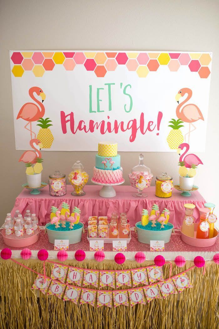 -Flamingo + Flamingle Pineapple Party at Kara's Party Ideas. See more at karaspartyideas.com!