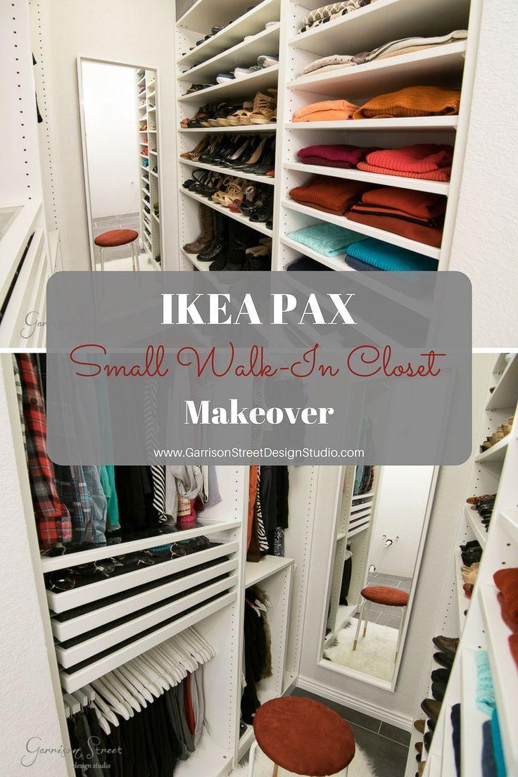 Small Walk In Closet Pax Big Storage Garrison Street Design Studio Bedroom Organization Closet Closet Layout Closet Makeover