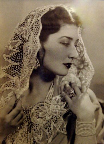 Princess Niloufer of Hyderabad india, one of the last princesses of the Ottoman Empire, born in Istanbul, Turkey ✿⊱╮