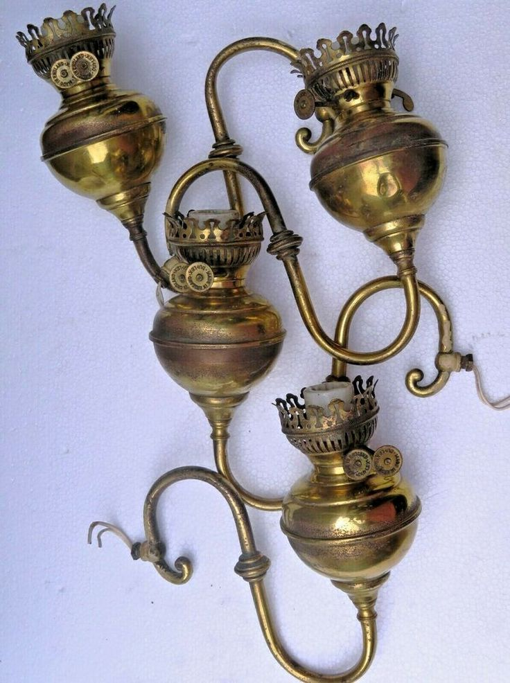 ANTIQUE BRASS WALL Sconce Double WICK ENGLAND DUPLEX ... on Wall Sconce Parts id=68768