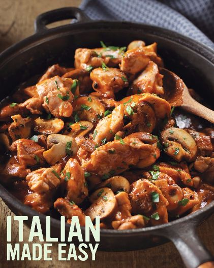 Easy Italian Chicken Cacciatore #recipe.