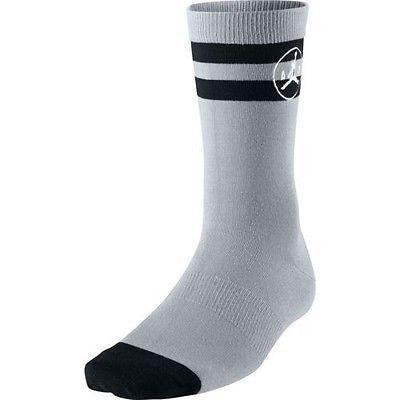 NWT Jordan Jumpman Striped Men's Socks Cool Grey/Black/White 716856-012 SZ 8-12 #Clothing, Shoes & Accessories:Men's Clothing:Socks ##nike #jordan #girls $10.00