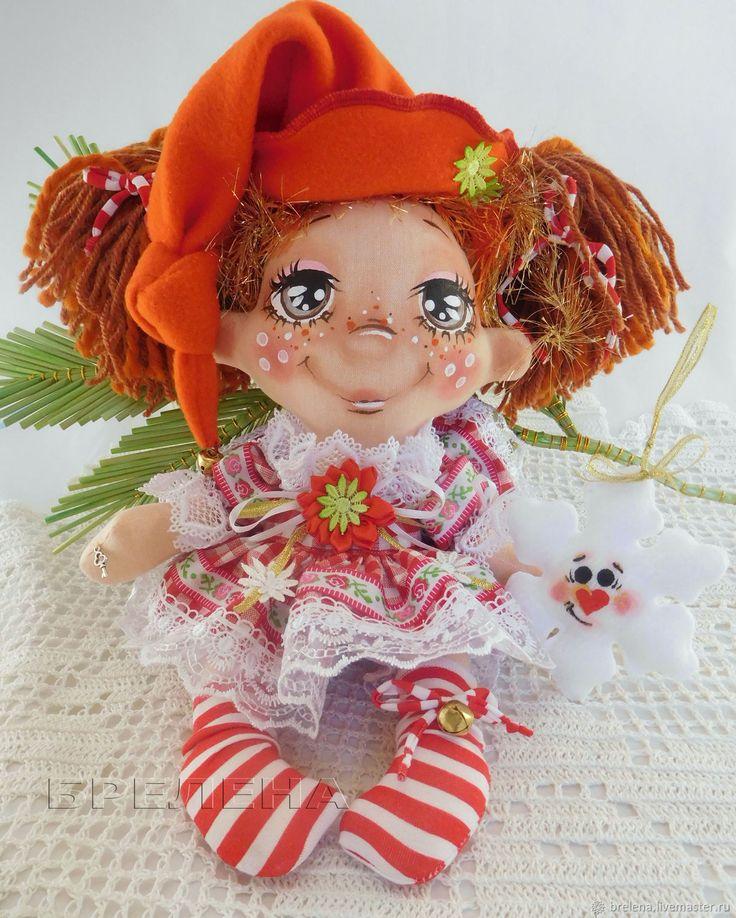 Купить Кукла Новогодняя феечка. Текстильная интерьерная кукла в интернет магазине на Ярмарке Мастеров