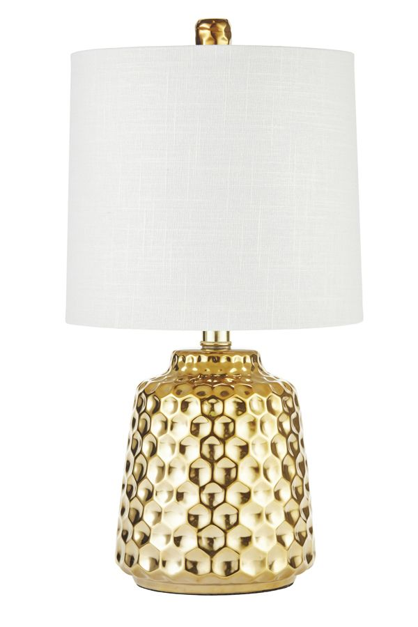 Light up your space with this gold lamp. You will love it even more when you find out the price.