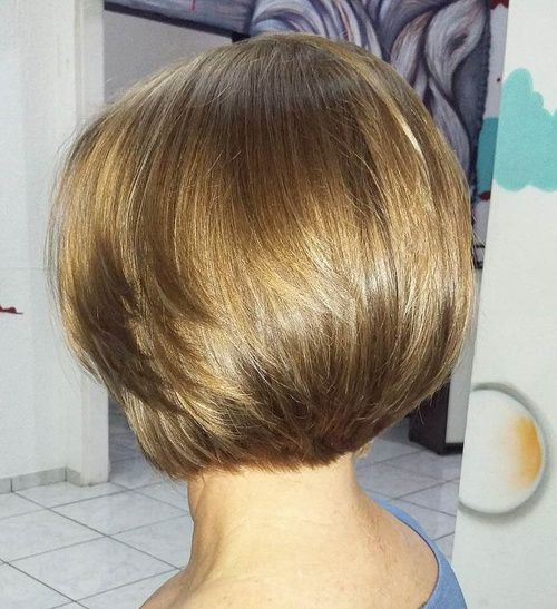 Layered Bob Haircut For Thick Hair - this is too long in the back for me