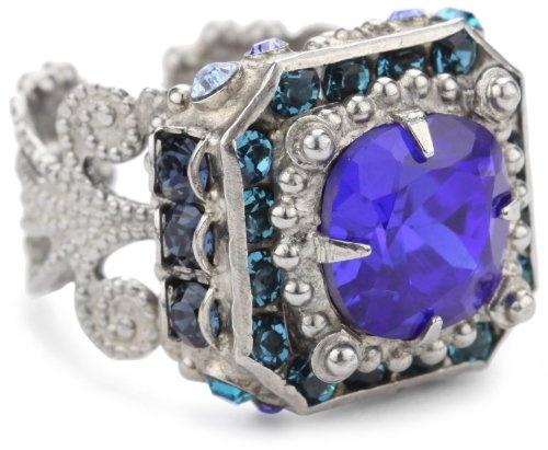 "Sorrelli ""Electric Blue"" Crystal Adjustable Silver-Tone RingDesign Shoes, Blue Crystals, Adjustable Rings, Fashion Accessories, Adjustable Silver Ton, Adjustable Silverton, Sorrelli Electric, Electric Blue, Crystals Adjustable"