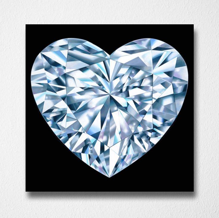 Pure Heart (Canvas print) by Reena Ahluwalia. Heart shaped Diamond. Starts from 295.00. #FancyColorDiamonds #DiamondPaintings #DiamondArt #ReenaAhluwalia #Diamond #HeartShapedDiamond #HeartShaped