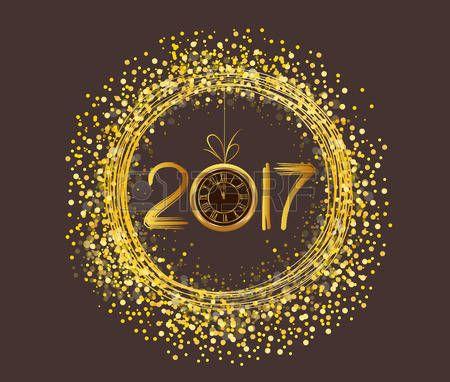 2017: 2017 Merry Christmas and Happy New Year Ilustração