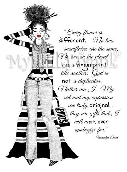 NEW ARTSY FARTSY Fashion Illustration Black and by MyJunkyTrunk