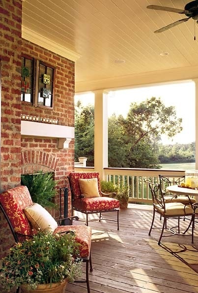 What would your dream porch entail? Is it the comfortable seating, breathtaking views, outdoor entertainment center, etc.?
