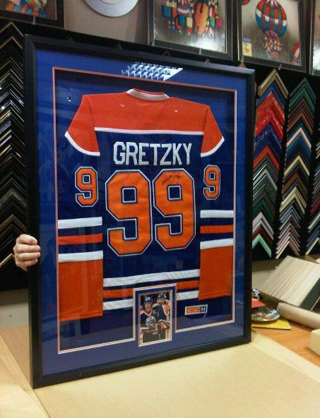 NEED JERSEY FRAMING COME BY THE GALLERIA LOCATED AT YONGE AND STEELES TORONTO  416 223 4349