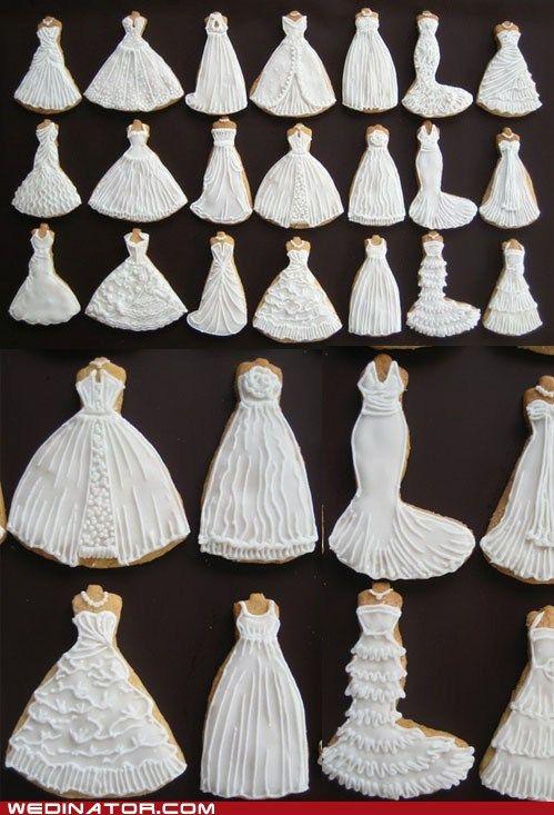 funny wedding photos - cookies - wedding dresses - Always Tres Sweet!