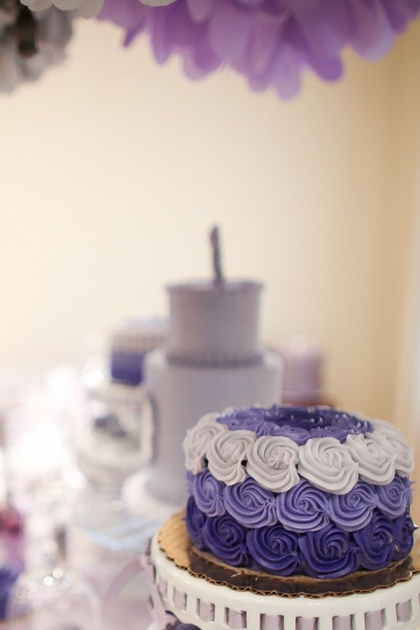 Rose Ombre Cake Buttercream Purple Ombre Party First Birthday