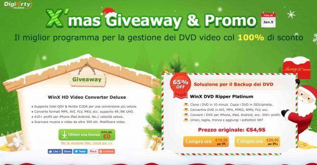 WinX HD Video Converter Deluxe gratis per il giveaway natalizio