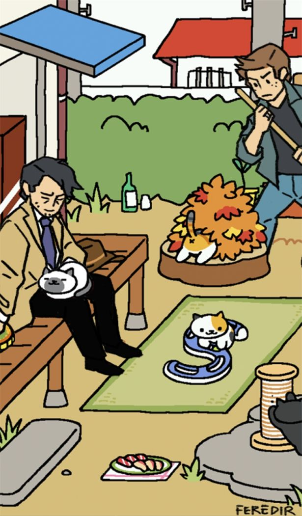 Supernatural Neko Atsume- the only reason I find this so funny is because a friend of mine has one of these things
