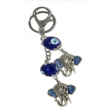 Ward off the negative energies and let the good ones flow. This key chain has a unique combination of the evil eye which protects you from the negative energies also known as the nazar suraksha kavach and the God of Good Luck, Lord Ganesha thus bringing in the positive energies. All this in a beautiful finish. Now carry this lucky charm where ever you go.