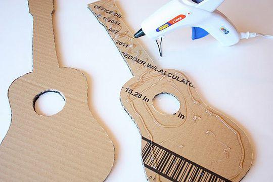 Make Your Own Playable Cardboard Guitars