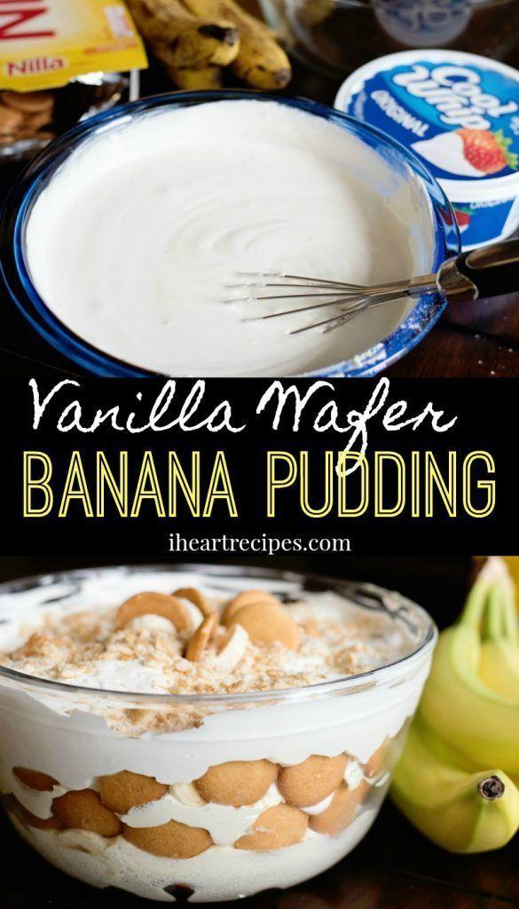Vanilla Wafer Banana Pudding I Heart Recipes Recipe In 2020 Vanilla Wafer Banana Pudding Easy Banana Pudding Banana Pudding