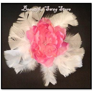 OOAK Feathers Flowers Clip by beautifulswagstore on Etsy, $15.00 use DENTAL 20% off good until 3 31 2012