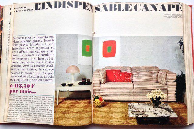 En 1967, on peut installer un beau canapé rayé dans son salon grâce à une nouveauté : le crédit bancaire.
