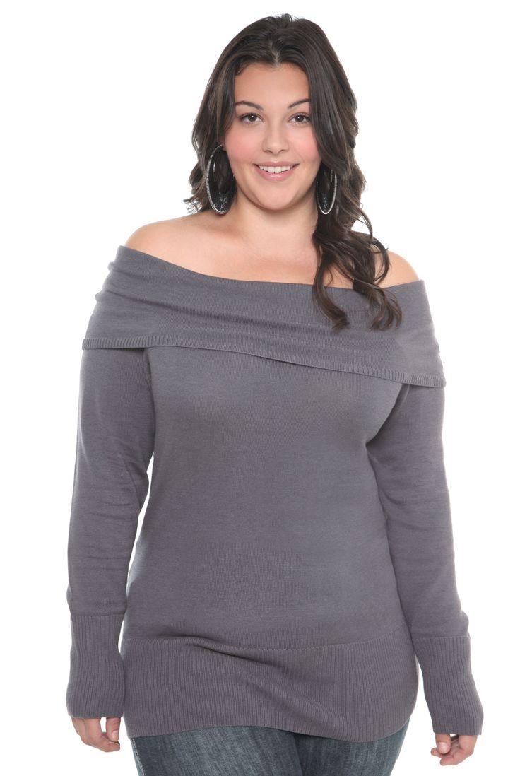 Dress size 24 torrid dress 24 torrid black and white draped v neck - Marilyn Grey Tunic Sweater Torrid