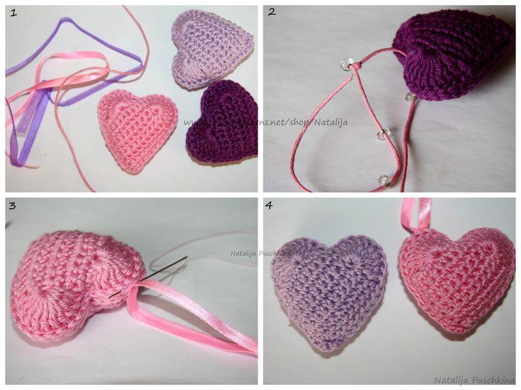 Design Vorschlage. Wenn Sie das Herz in einer Farbe häkeln möchten, dann einfach alle beschriebenen Schritte mit einer Farbe häkeln. Material: Schlüsselring; Catania Wolle (oder andere Wolle mit passende Häkelnade