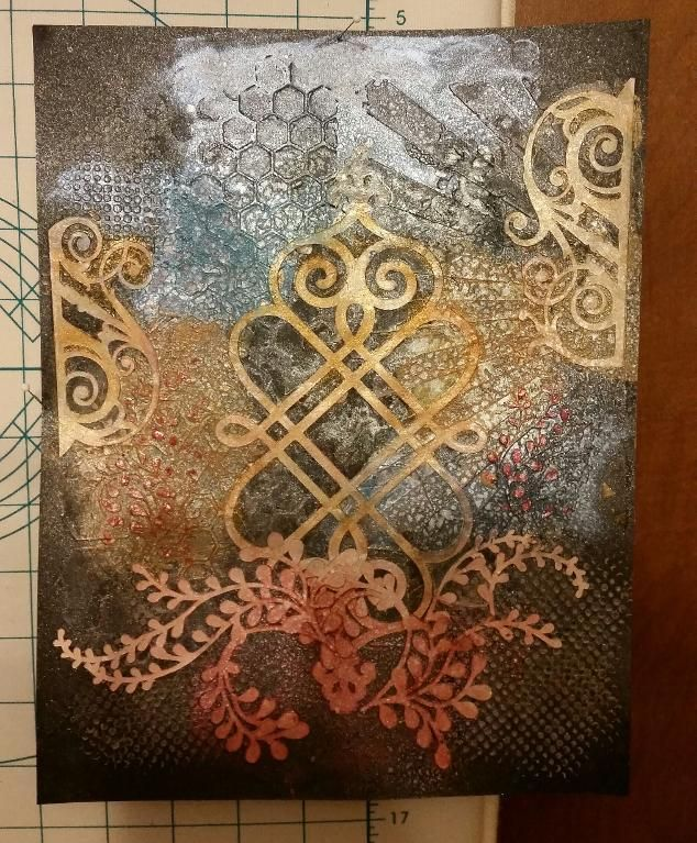 Student Work by Marsha Clark in Inventive Ink – Colorful Mixed Media Effects class. Register here: craftsy.me/1ONw8iG