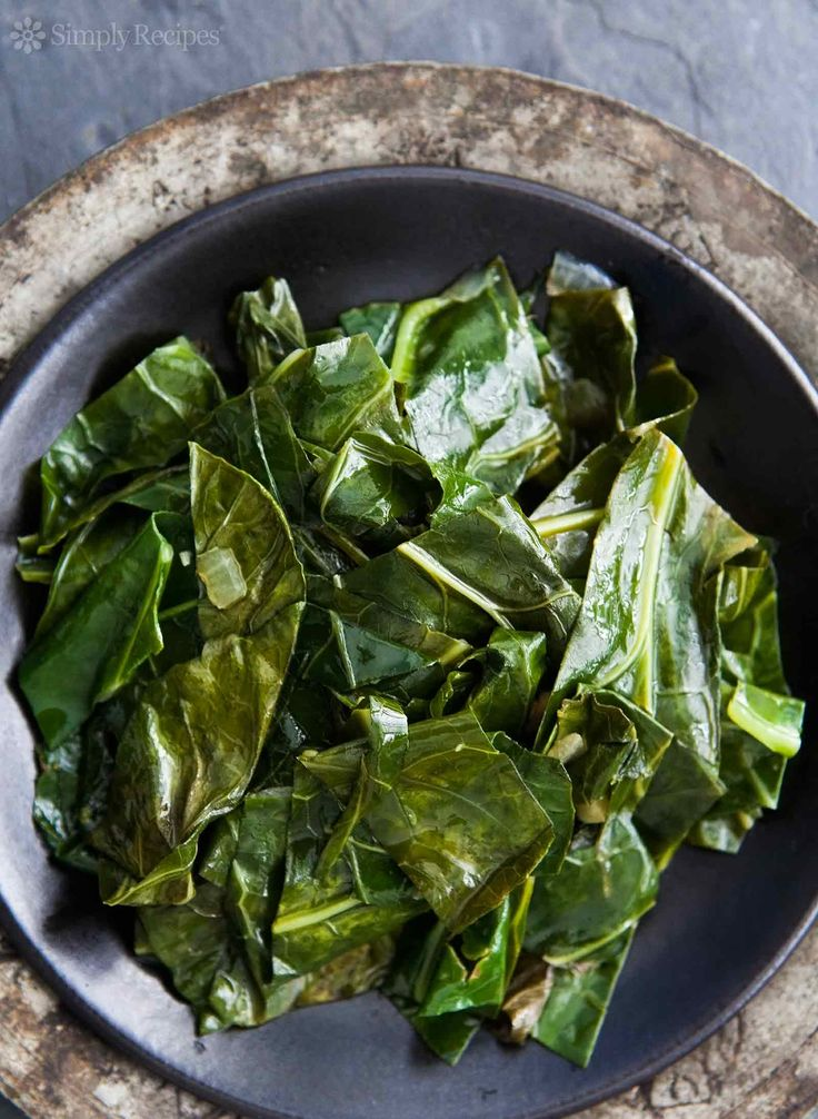 Easy sautéed collard greens! Serve them with barbecue sauce for ...