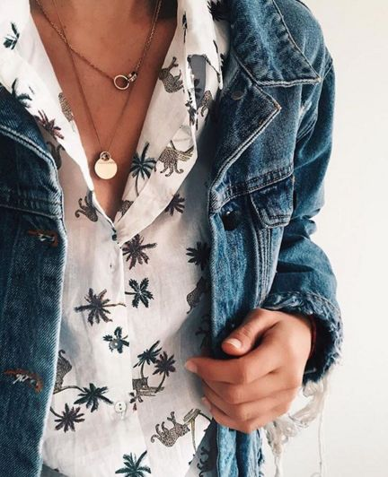 It's all in the details. Anouk Yve in the Won Hundred Dina Trash denim jacket.